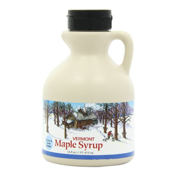 Butternut Mountain Farm Vermont Pure Maple Syrup, Grade A Dark Amber, 1-Pint Jug