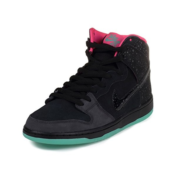 Nike Mens Dunk High Premium SB Anthracite/Black-Hyper Pink-Mint Suede Skateboarding Size 10.5