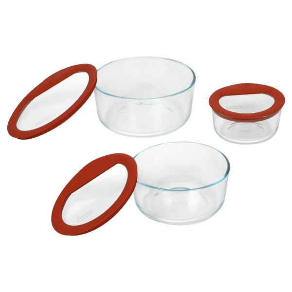 Pyrex Premium 6-Piece Glass Food Storage Set