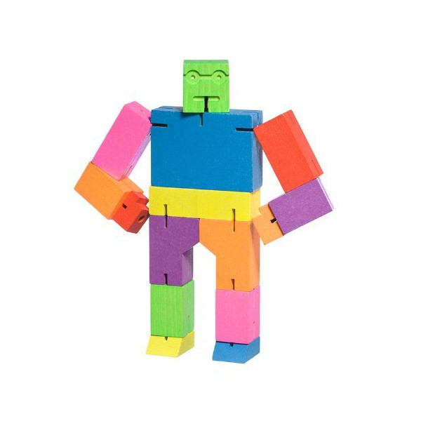 Areaware Medium Cubebot - Multi Colored