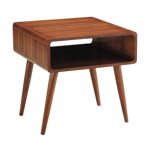 Boraam Zebra Series Alborg End Table, Honey Oak