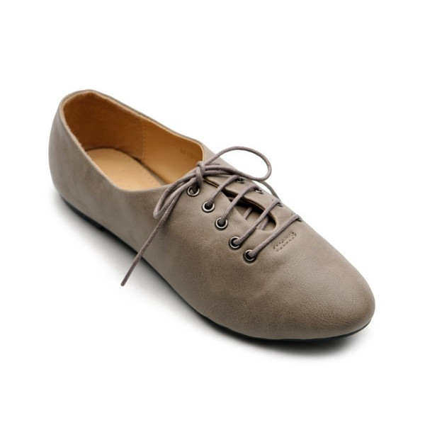 Ollio Oxfords Flats, Grey