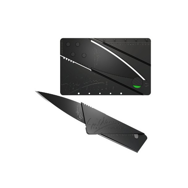 Iain Sinclair Cardsharp 2 Black Credit Card Sized Folding Knife