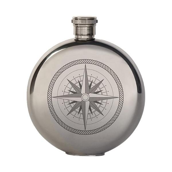 Kikkerland 5-Ounce Compass Canteen Flask