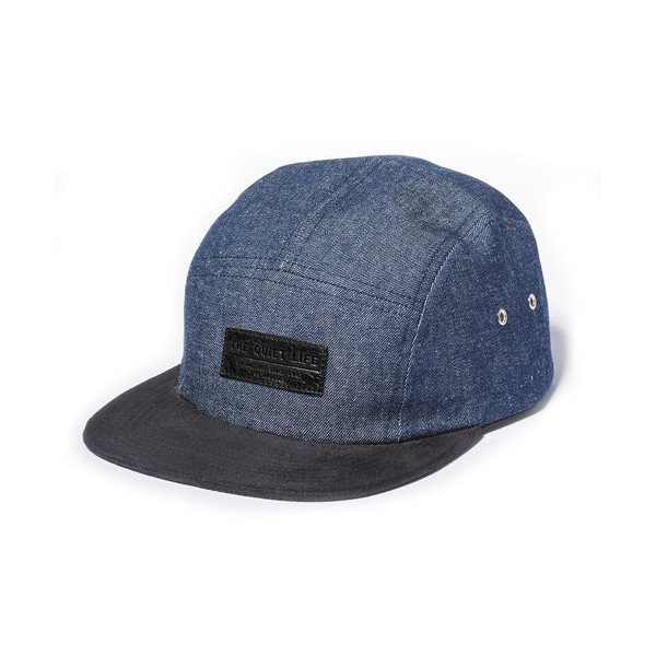Quiet Life: Denim 5 Panel Hat (Denim / Black)