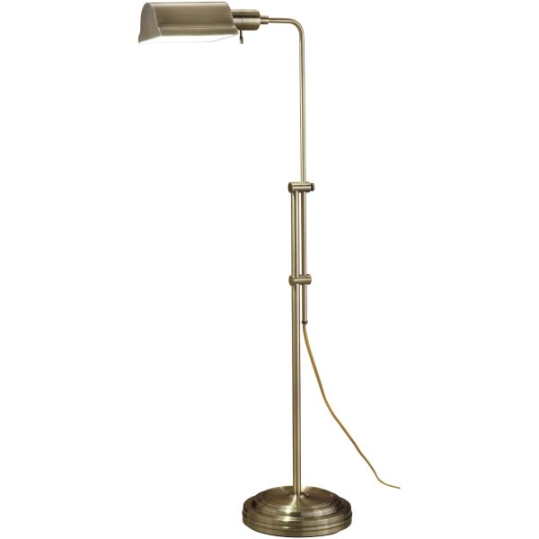 Normande JS3-729 27W PL Floor Lamp, each, Antique Brass Finish