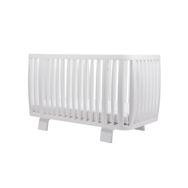 Bloom Retro Crib, Coconut White