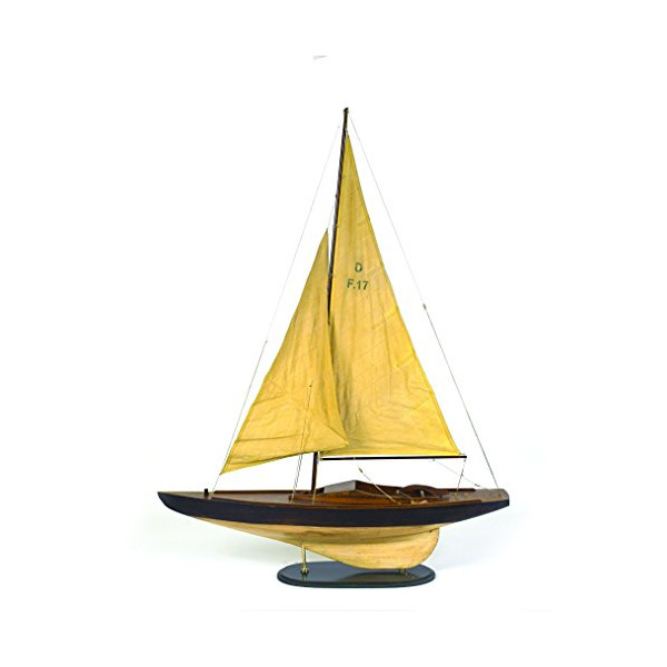 Creative Co-Op Wood and Fabric Sailboat