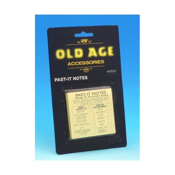 Old Age Past-it Notes Sticky Daily Routine Reminder Novelty Prank Gift