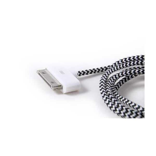 Foamy Lizard Premium Fabric Braided iPhone 4 & 4S (Hand Tested) 30 Pin USB cable (Vertigo)