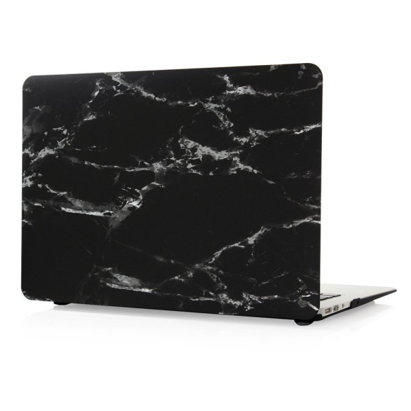 "MacBook Air 11"" Case, leminimo Rubber Coated Hard Shell Frosted Cover for MacBook 11 Inch (Model: A1370/A1465)-BLACK MARBLE PATTERN DESIGN"