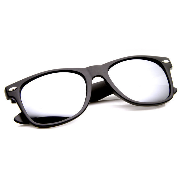 zeroUV® Flat Matte Reflective Sunglasses, Black Mirror