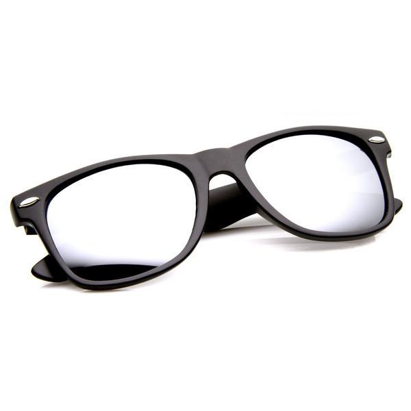 zeroUV® Flat Matte Reflective Sunglasses, Black Mirror