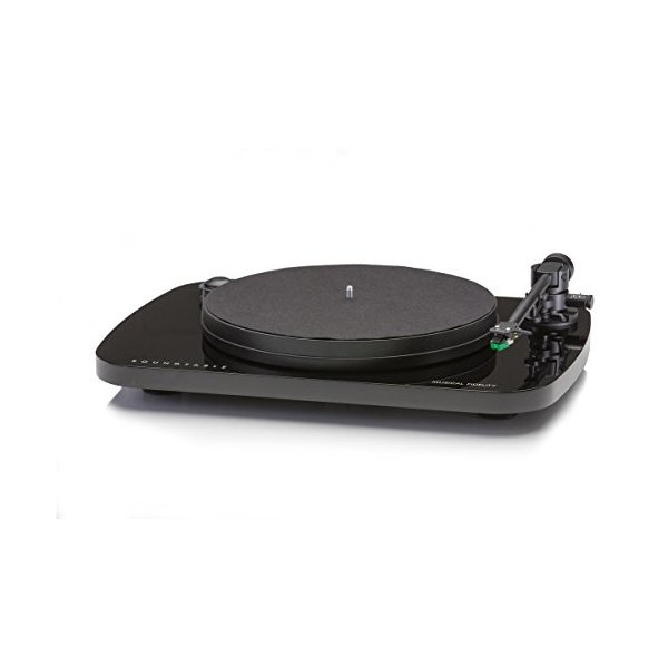 Musical Fidelity Roundtable Turntable with Audio Technica 95E Cartridge Black