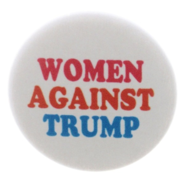 "A&T Designs Women Against Trump 1.25"" Pinback Button Pin Feminist Anti No Donald"