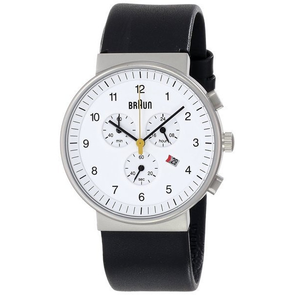 Braun Men's Classic Chronograph Analog Display Quartz Black Watch