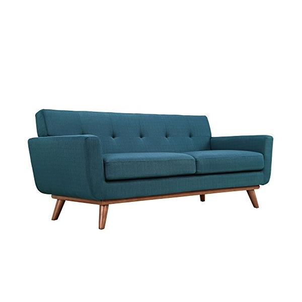 LexMod Engage Upholstered Loveseat in Azure