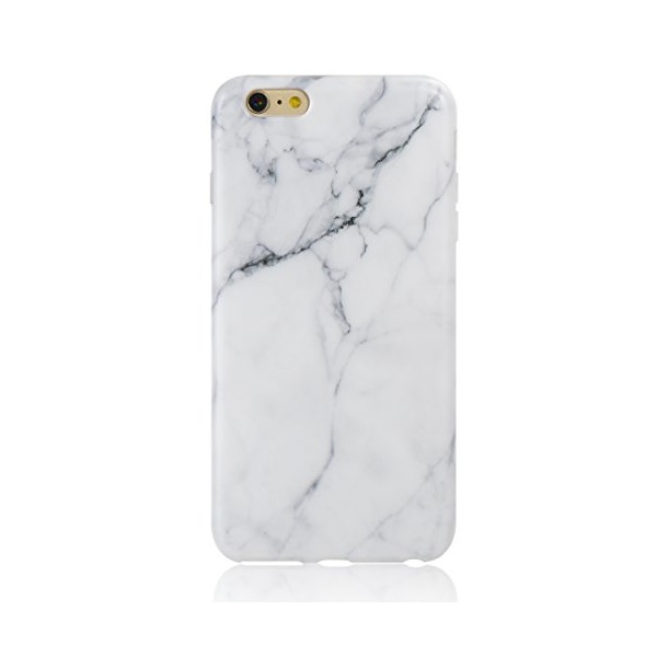 iPhone 6 Case, Leminimo(TM) IMD TPU Case For iPhone 6 6S [4.7 inch Display] - White Marble Pattern Slim Fit Snap On TPU Shell Full Protection Case
