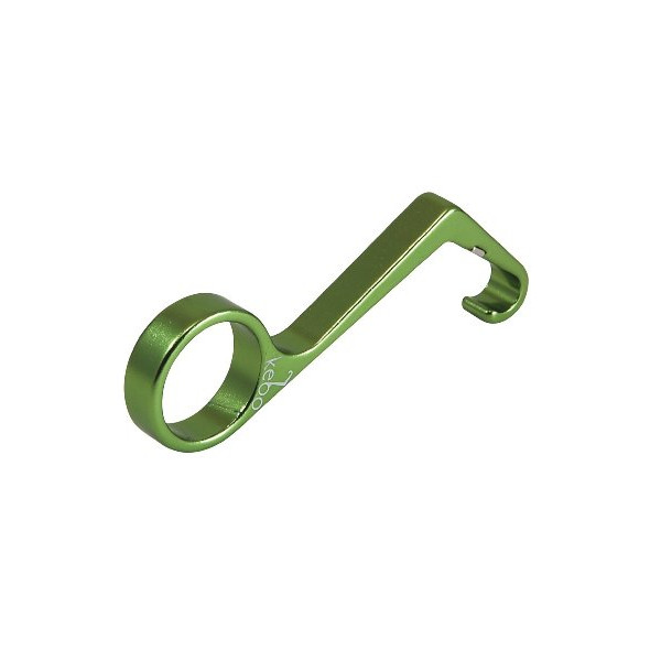 Rush 3 Product Design Studio Kebo Light One-Handed Bottle Opener, Green