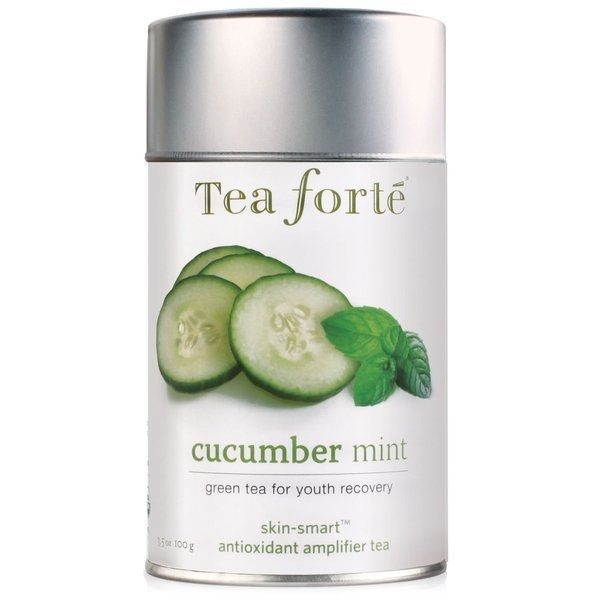 Tea Forte Skin Smart Loose Tea Canister, Cucumber Mint, 3.17oz