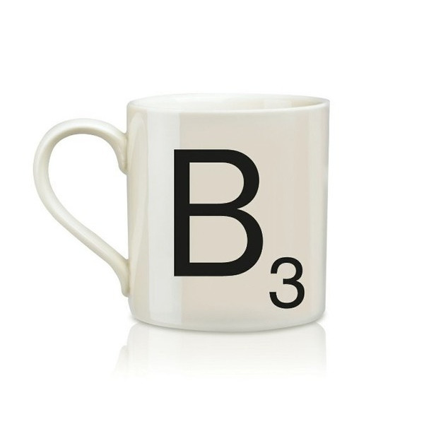 Wild and Wolf Ltd Scrabble Alphabet Mug, B * Harsboro Coffee Mug
