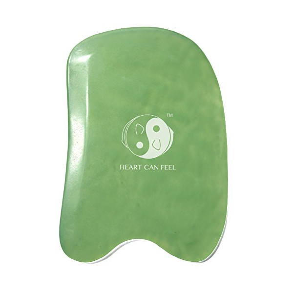 BEST Jade Gua Sha Scraping Massage Tool + Highest Quality Hand Made Jade Guasha Board Available -On Sale- EACH IS UNIQUE & BEAUTIFUL!GREAT Tools for Graston SPA Acupuncture Therapy Trigger Point Treatment on Face [Square] - LIFETIME GUARANTEE