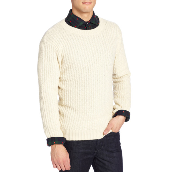 GANT Rugger Men's Cablecito Sweater, Ivory