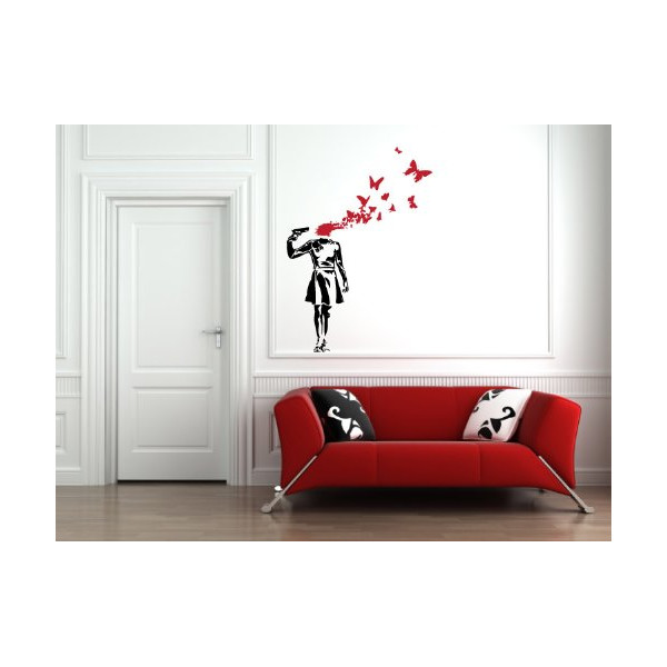 Banksy - Suicide Butterflies - Wall Vinyl Decal