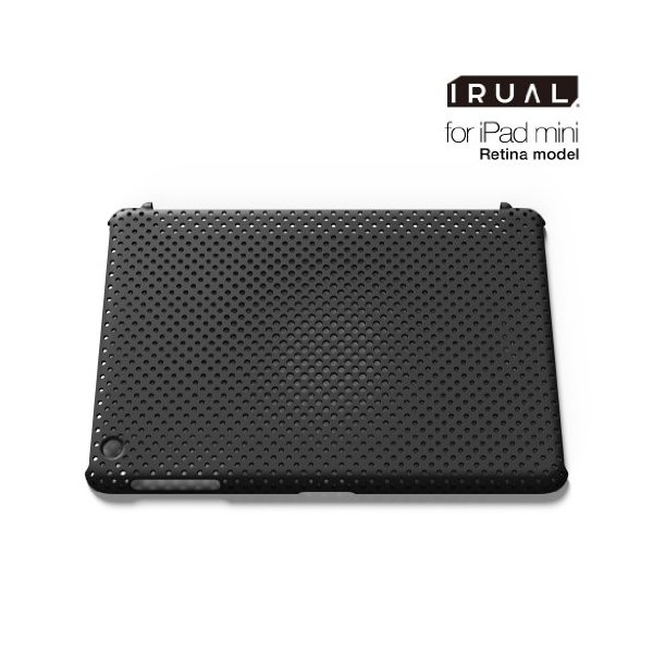 IRUAL | iPad mini Retina case cover | MESH SHELL CASE for iPad mini Retina Matte Black