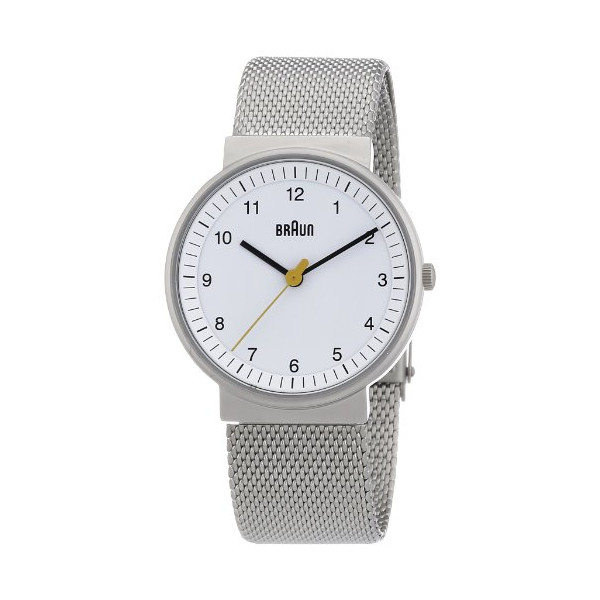 Braun Women's Classic Mesh Analog Display Quartz Silver Watch