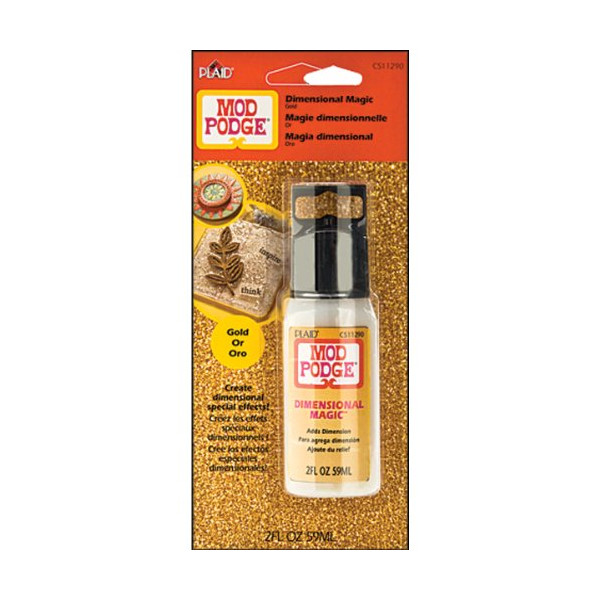 Plaid Mod Podge CS11290 2-Ounce Dimensional Magic, Glitter Gold