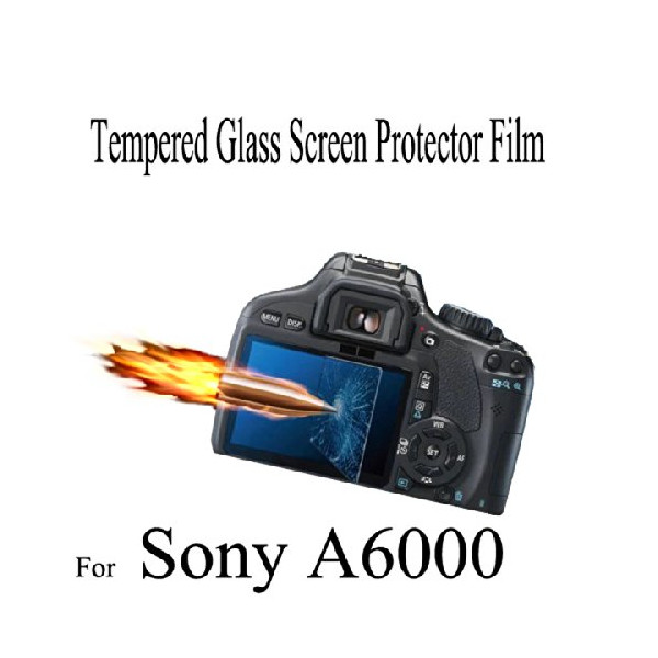 AFUNTA Real Tempered Toughened Optical Glass Camera Screen Protector 9H Hardness Anti-Bubble Anti-scratch Anti-burst Anti-fingerprint Ultra-thin Super Light Transmittance For Sony A6000