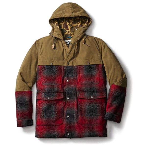 Woolrich Men's The Mix-Up Wool Jacket, Red Plaid