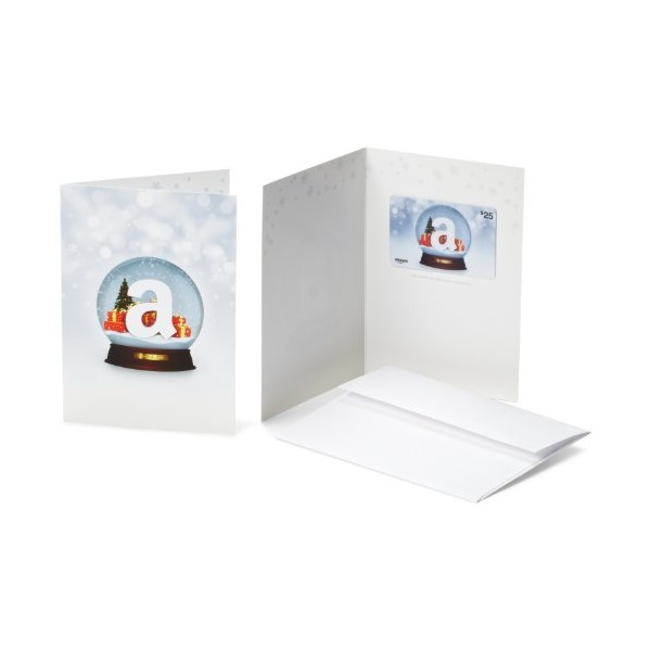 Amazon.com Gift Card with Greeting Card - $25 (Holiday Globe)
