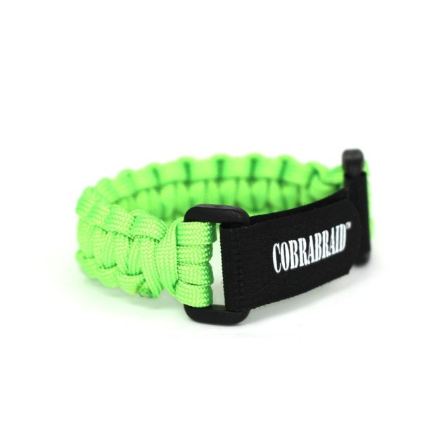 Cobrabraid USA 550 Paracord Survival Adjustable Velcro Bracelet-Large