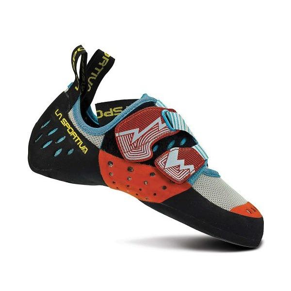 La Sportiva Women's Oxygym Rock Climbing Shoe White/Coral - 40