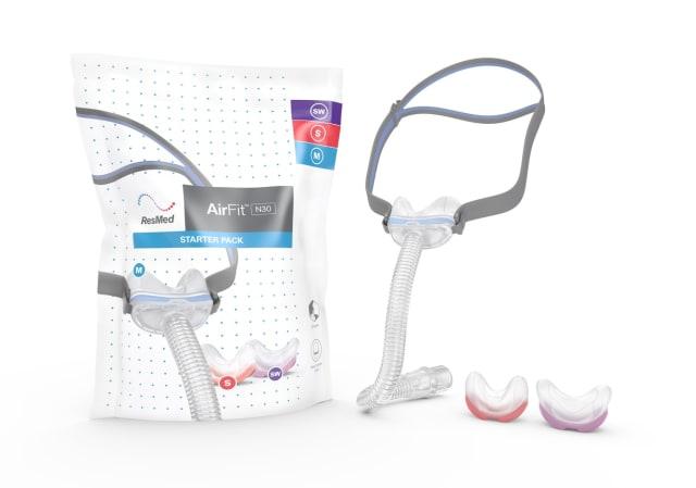 ResMed Airfit N30 Nasal CPAP Mask Starter Pack