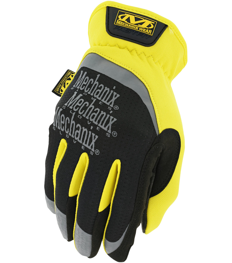 Mechanix Wear Fastfit Safety Glove Neon Yellow Mechanic Working Gloves M L XL