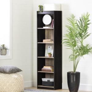 Axess - 5-Shelf Narrow Bookcase