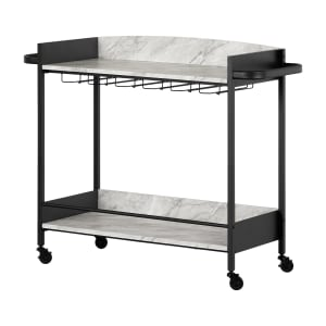 City Life - Bar Cart with Wine Glass Rack