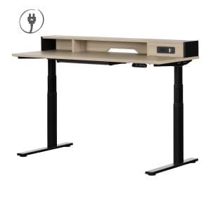 Zelia - Adjustable Height Standing Desk with Built In Power Bar