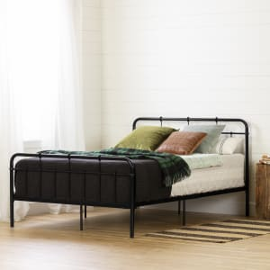 Hankel - Metal Platform Bed with Headboard and Footboard