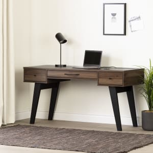 Helsy - Computer Desk with Power Bar