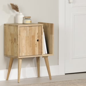 Kodali - Solid Wood End Table with Storage