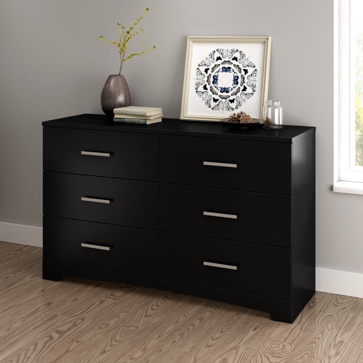 Gramercy 6 Drawer Double Dresser Dresser Master Bedroom Furniture Products South Shore Furniture Us Furniture For Sale Designed And Manufactured In North America