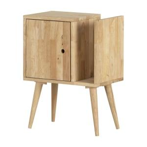 Kodali - Table d'appoint en bois massif avec rangement