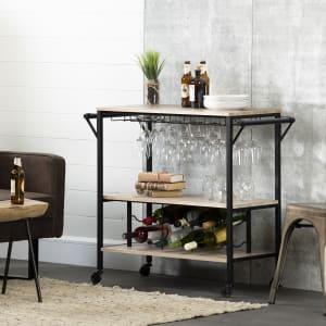 Munich - Bar Cart with Wine Rack
