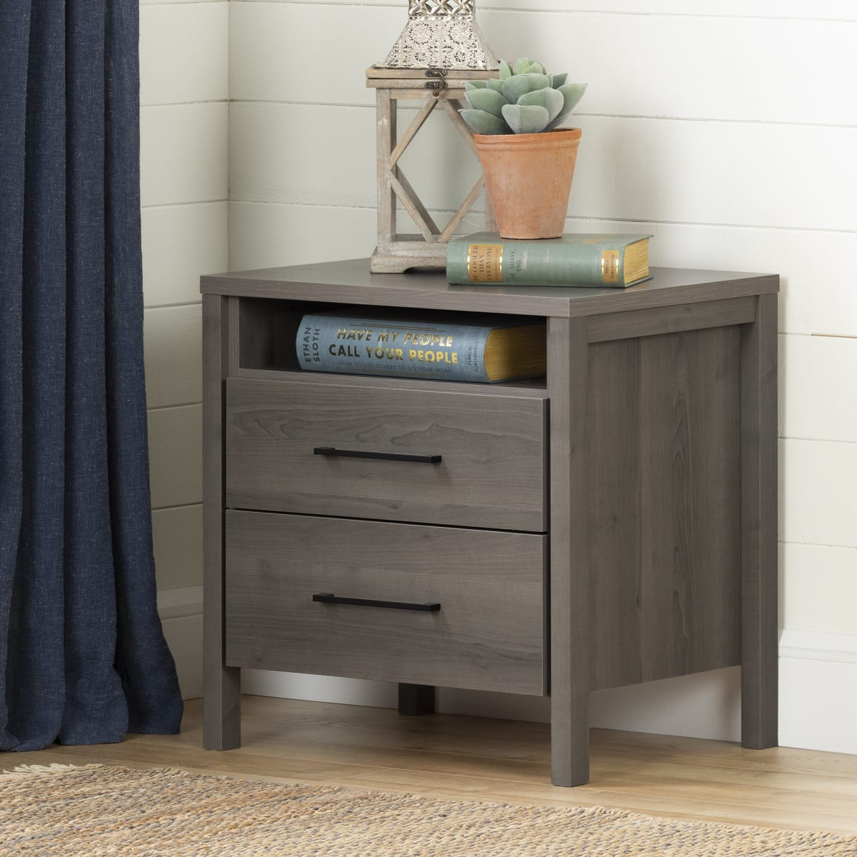 Gravity 2 Drawer Nightstand Nightstand Master Bedroom Furniture Products South Shore Furniture Ca Furniture For Sale Designed And Manufactured In North America