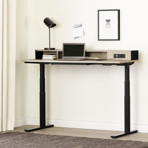 Kozack - Adjustable Height Standing Desk with Built In Power Bar