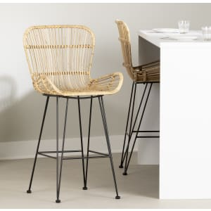 Balka - Rattan Counter Stool with Armrests, Set of 2
